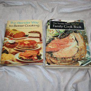 1960 vintage cook book lot Blender family cookbook